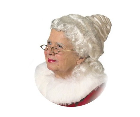 Women's Mrs. Claus Wig White - image 1 of 1