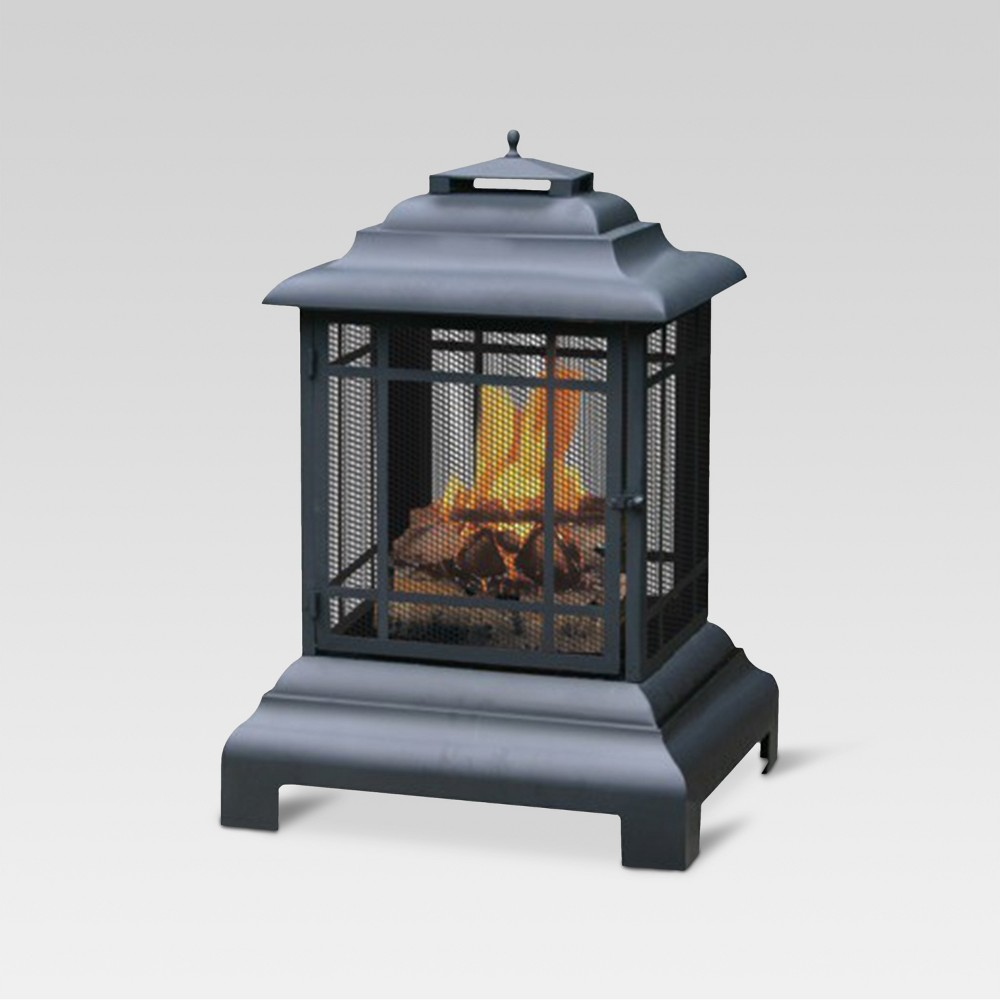 Firehouse Outdoor Firepit - Black - Threshold