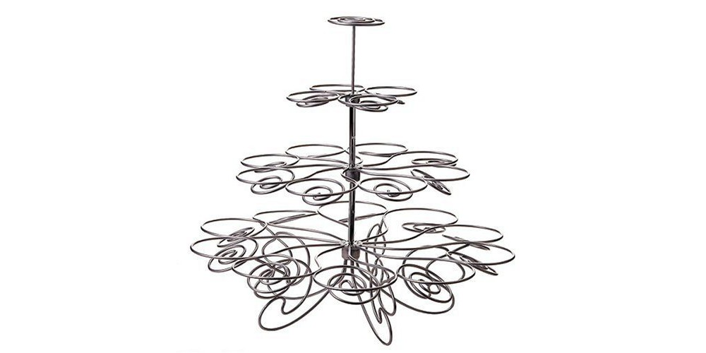 Wilton Cupcakes and More Stand - Silvertone (Holds 23), Silver