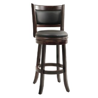 Boraam Augusta 29u0022 Swivel Bar Stool, Cappuccino