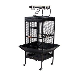 Prevue Pet Products Select Signature Wrought Iron Bird Cage - Black - Large