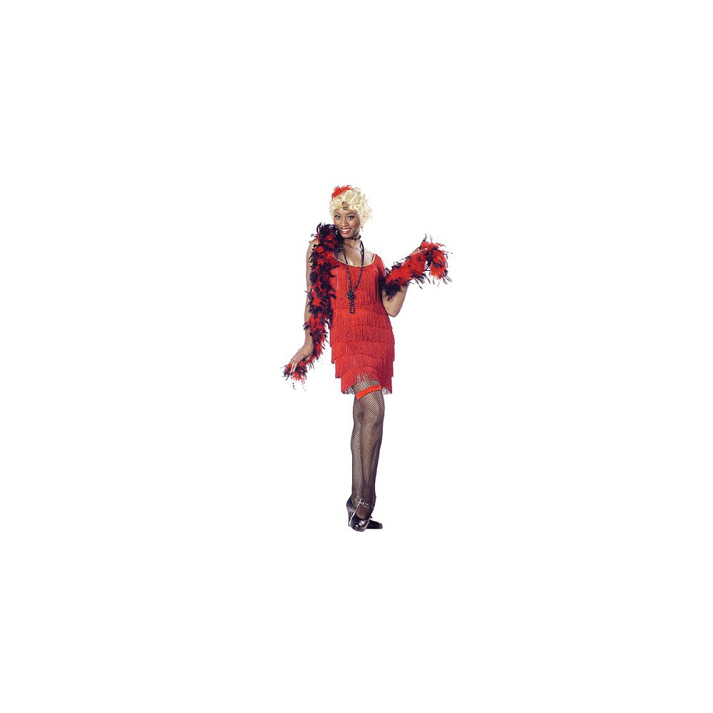 Fashion Flapper Womens Costume Red - Medium, Variation Parent