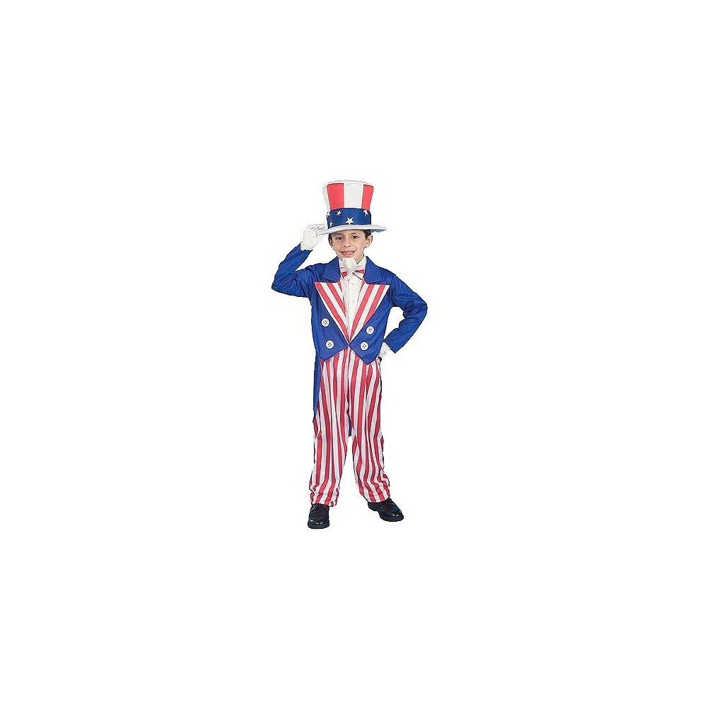Boys Uncle Sam Costume Small (4-6), Size: S(4-6), Variation Parent