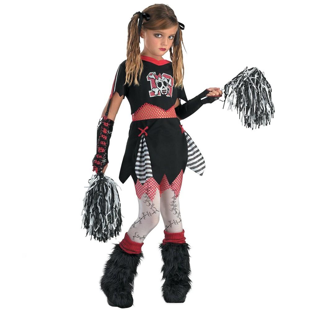 Girls D/Ceptions2 Cheerless Leader Costume Medium (7-8), Size: M(7-8), Variation Parent