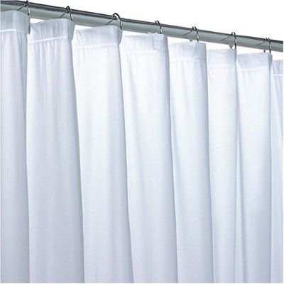 No Mildew Shower Curtain Liner - Clear