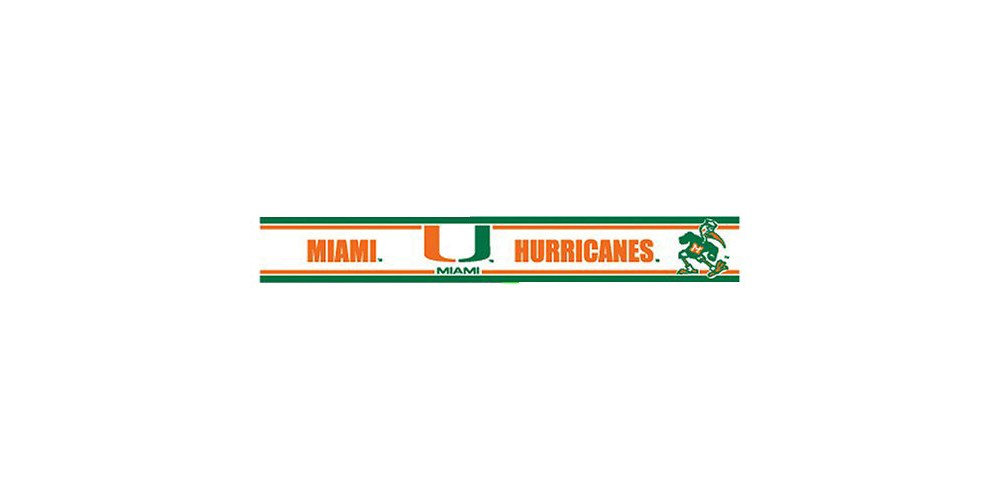 Miami Hurricanes Wall Border - Set of 2