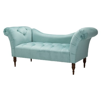 Skyline Furniture Button Tufted Velvet Chaise Settee - Caribbean - Skyline Furniture®  sc 1 st  Target : button tufted chaise settee - Sectionals, Sofas & Couches