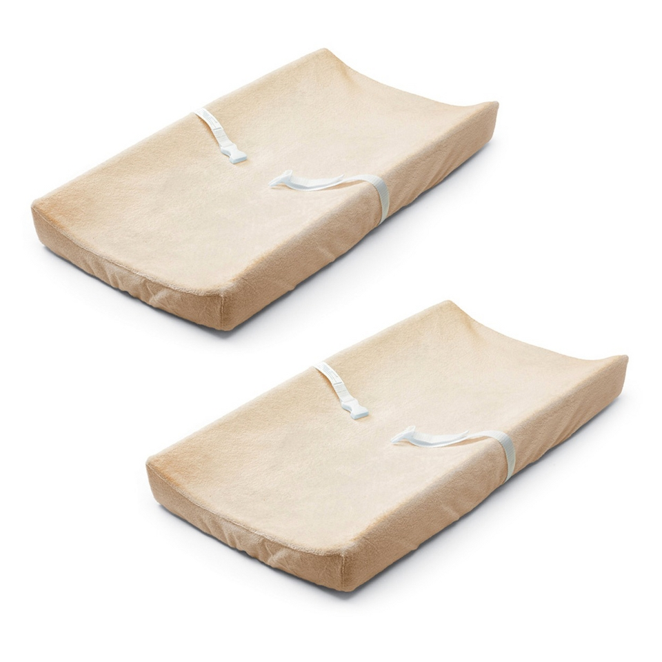 Basic Comfort Ultra Plush Changing Pad Cover (2 Pack)   Ecru