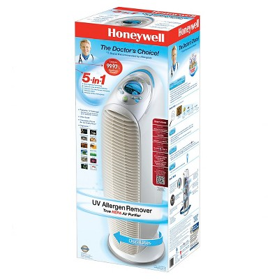 honeywell uv true hepa 5in1 allergen remover tower hpa245 - Honeywell Hepa Air Purifier