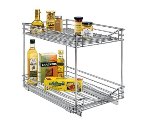 "Lynk Professional® Pull Out Double Drawer -  2 Tier Sliding Cabinet Organizer 14""w x 18""d - image 1 of 5"