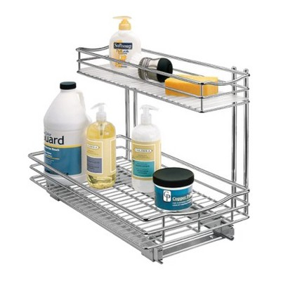 Lynk Professional® Pull Out Under Sink Drawer - 2 Tier Sliding Cabinet Organizer 11.5 w x 21 d