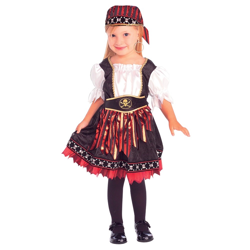 Lil Pirate Cutie Girls Costume - Small (4-6), Size: S(4-6), Variation Parent