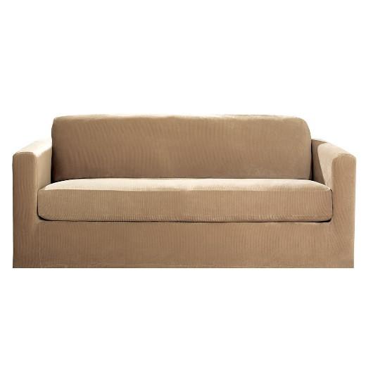 Stretch Rib 2 Piece Sofa Slipcover Sure Fit Tar