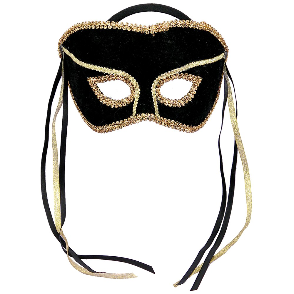 Adult Costume Mask Black/Gold, Adult Unisex