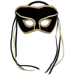 Adult Costume Mask Black/Gold
