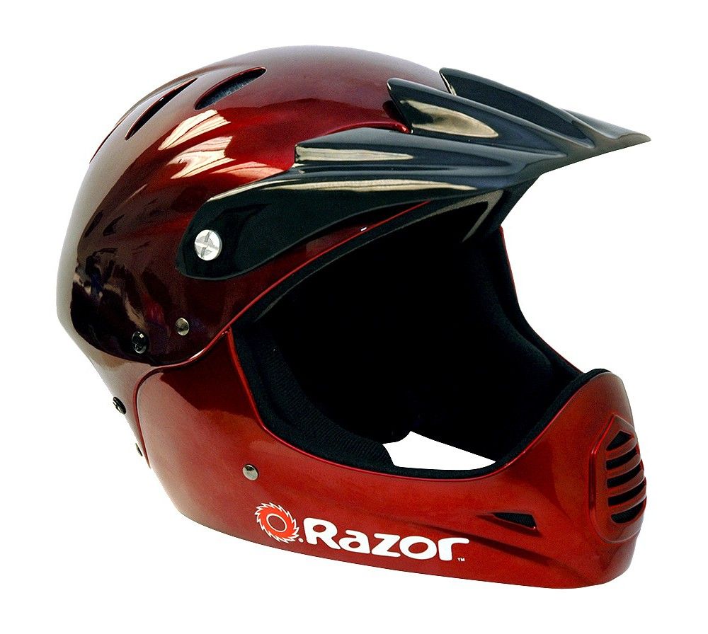 Razor Full Face Youth Helmet - Black Cherry