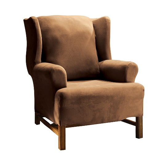 Stretch suede wingchair slipcover sure fit target for Sure fit stretch slipcovers clearance