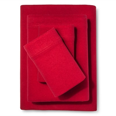 Jersey Sheet Set - (King)Red - Room Essentials™