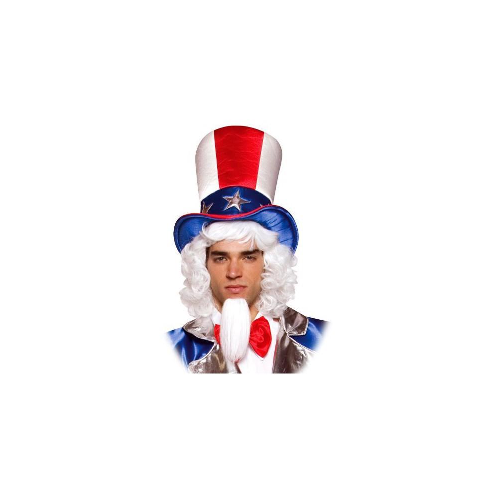 Mens Uncle Sam Top Hat, Costume Headwear