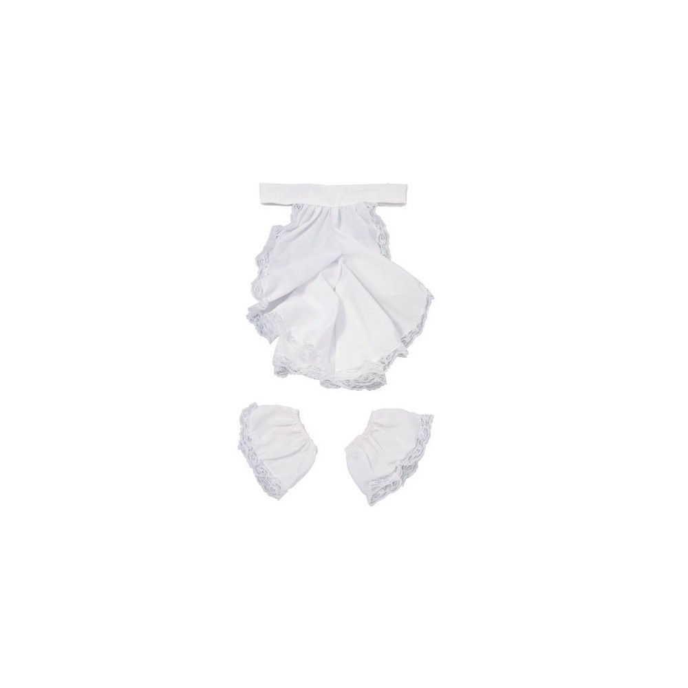 Colonial Jabot and Cuffs Costume Accessory Set White, Mens
