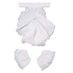 Colonial Jabot and Cuffs Costume Accessory Set White