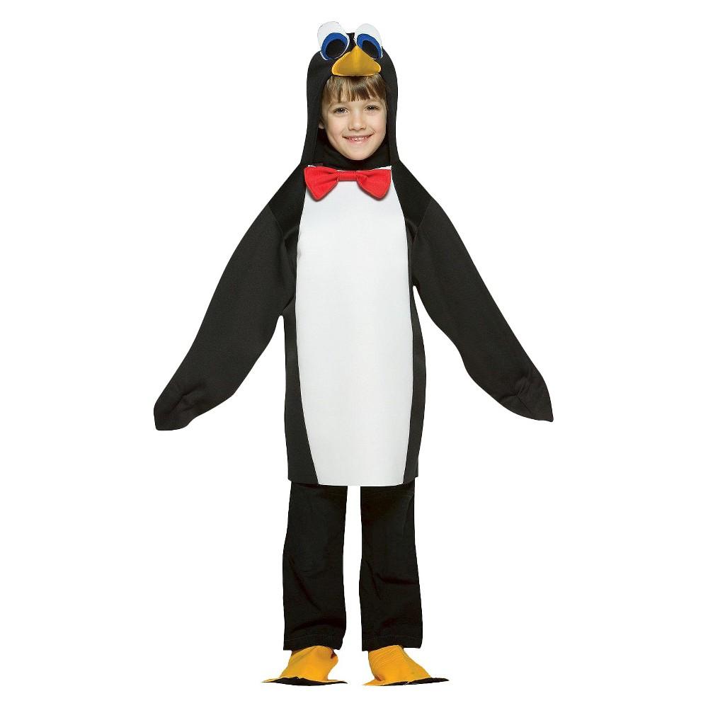 Kids Penguin Costume Small, Kids Unisex, Size: S(4-6)
