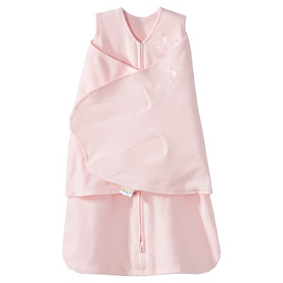 HALO SleepSack 100% Cotton Swaddle - Soft Pink - Newborn