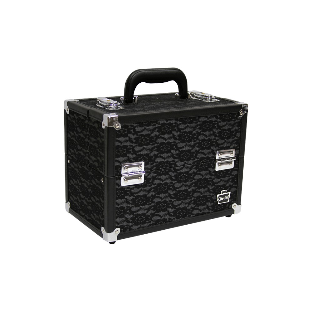 Caboodles Stylist 6 Tray Train Case, Blk Lace