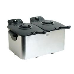 Elite Platinum 6qt Stainless Steel Dual Deep Fryer
