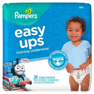 Pampers Easy Ups Boys Training Pants Jumbo Pack, Size 2T-3T (26 ct)