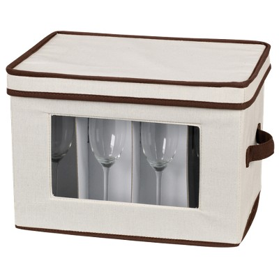 Household Essentials Stemware Chest/Flute
