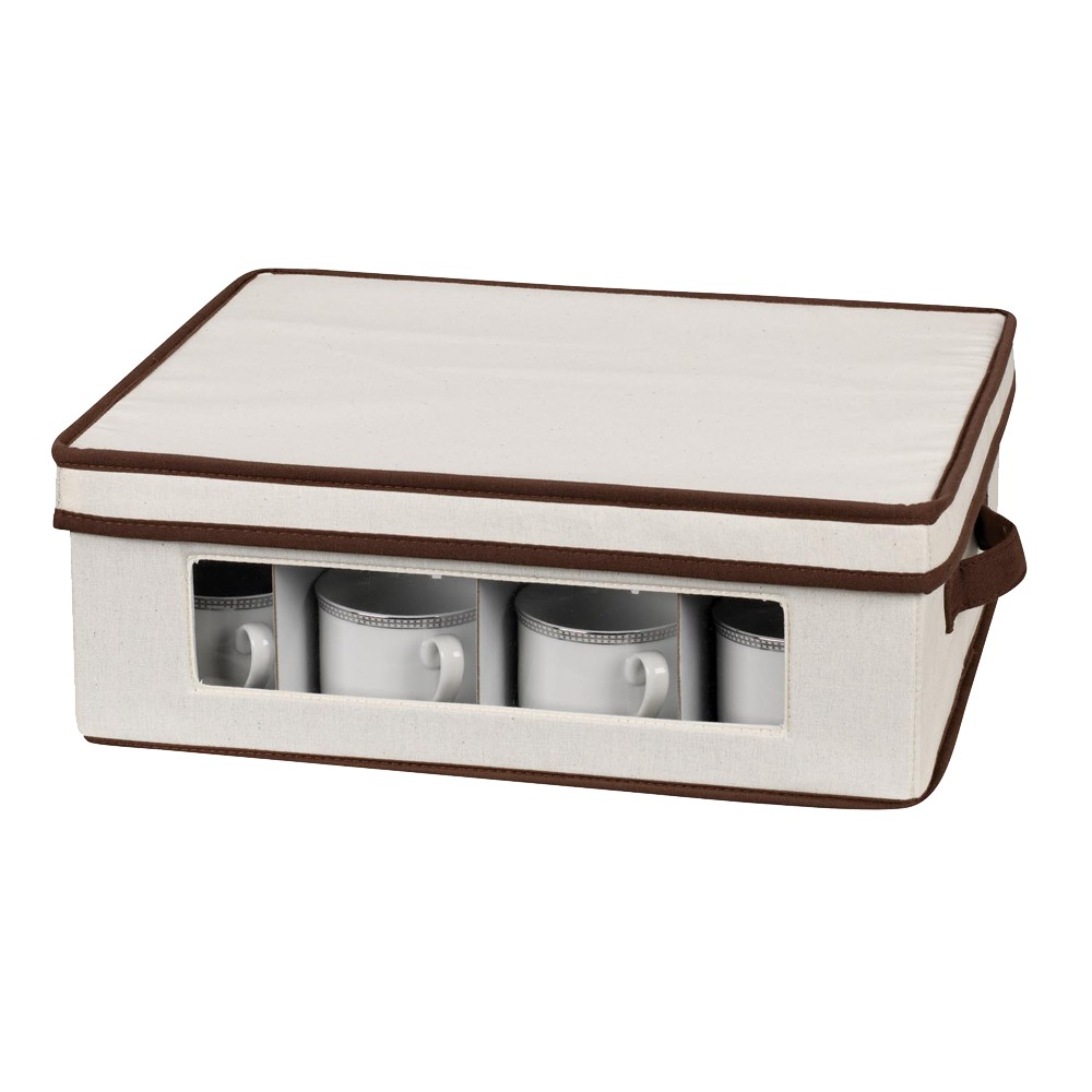 Household Essentials Cup Chest, Tan