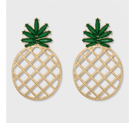 SUGARFIX by BaubleBar Pineapple Drop Earrings - Green
