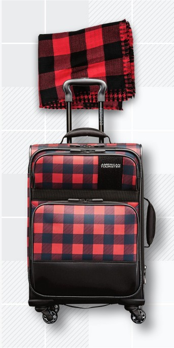 Women's Reversible Oblong with Houndstooth and Buffalo Check Scarf - A New Day™, American Tourister Kickster 21