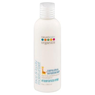 Nature's Baby Organics Organic Face and Body Moisturizer -Fragrance Free-8 oz.