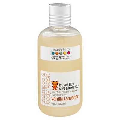 Nature's Baby Organics Shampoo & Body Wash (Vanilla/Tangerine)-8 oz.