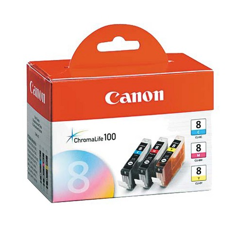 Canon Tri-Color Pack - Cyan/Magenta/Yellow (CLI-8) - image 1 of 1