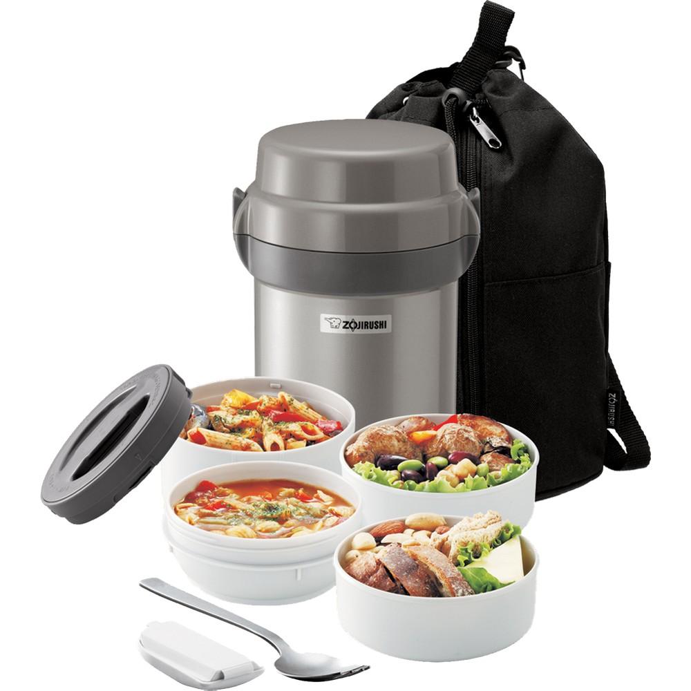 Mr. Bento Lunch Jar Set, Silver