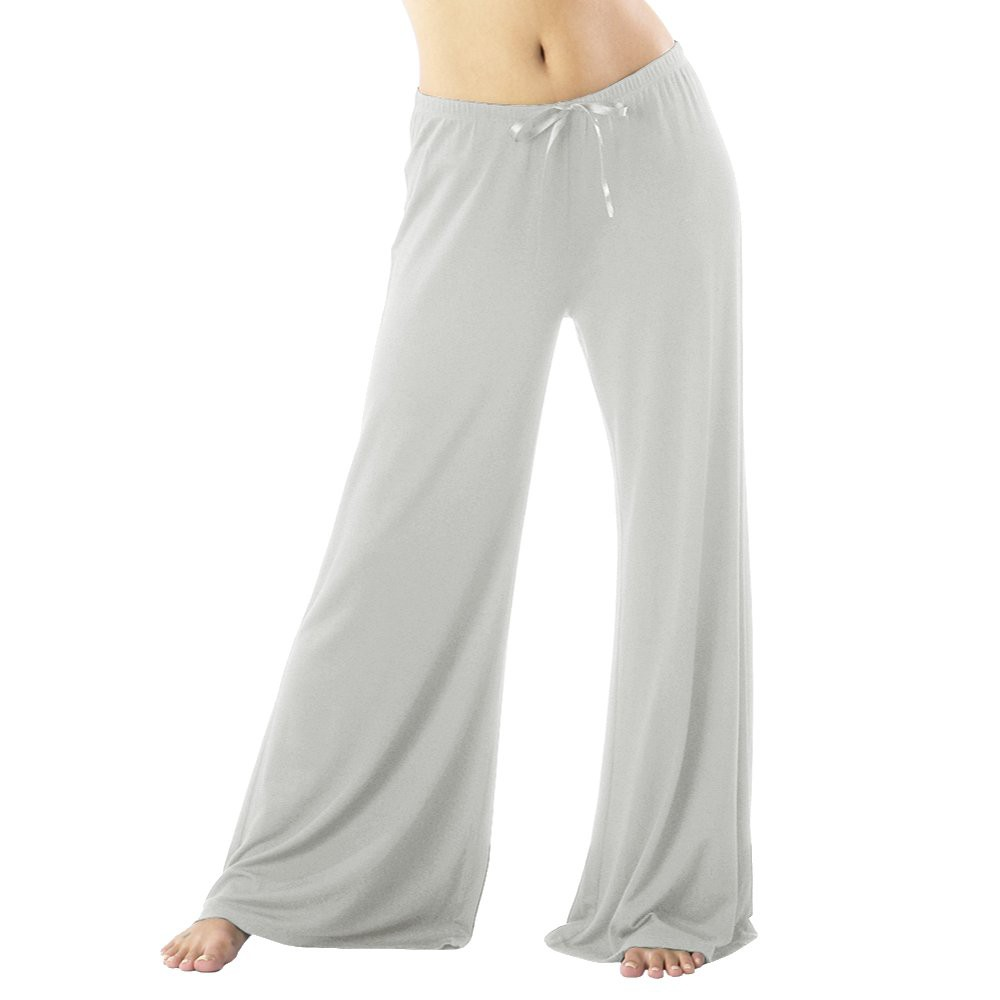 Womens Modal Pajama Pants - Extended Lengths - Heather Gray XL