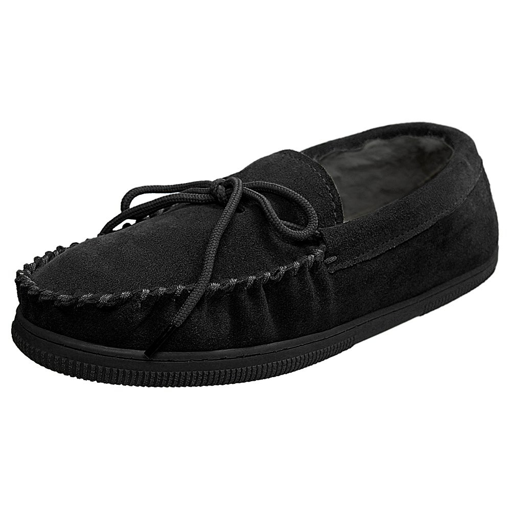 Mens Bosto Faux Suede Slippers - Black 10