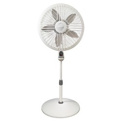 """11189536 - Lasko 3-Speed 18"""" Elegance and Performance Pedestal Fan with Remote - White Oscillating"""