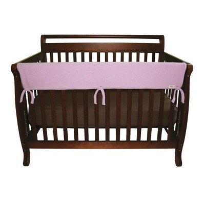 Trend Lab Set of Two Fleece 27  Side Rail Cover for Convertible Crib - Pink