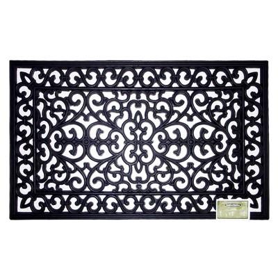 Decorative Black Rubber Door mat - Smith & Hawken™