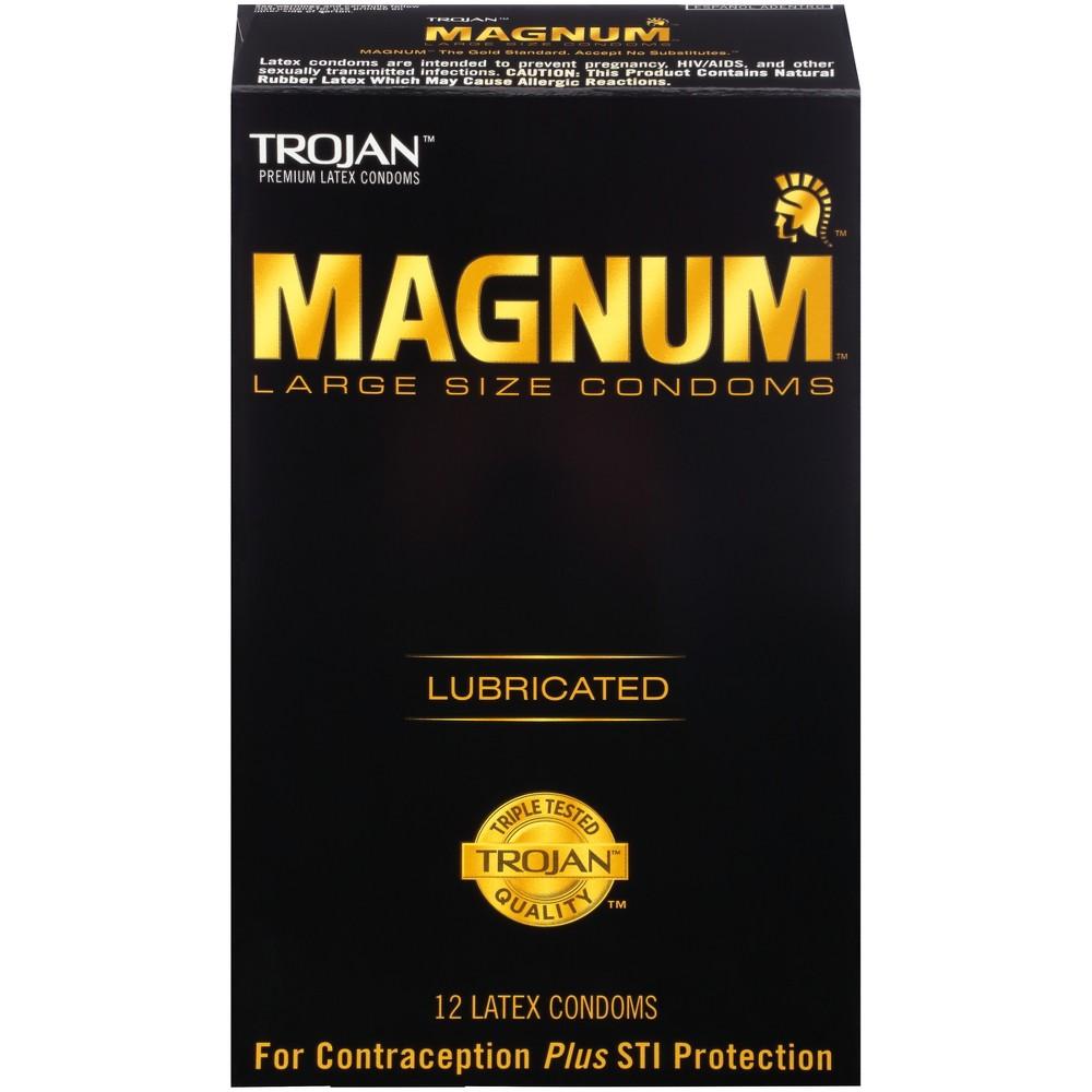 Trojan Magnum Large Size Lubricant Condoms - 12 Count