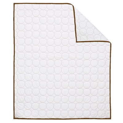 Bacati Baby Quilt - White & Chocolate