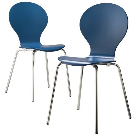 Porter Modern Stacking Chair Blue Set Of 2 Target