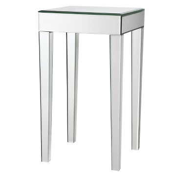 mirrored side table living room mirrored pyramid living room accent side end table target 22804