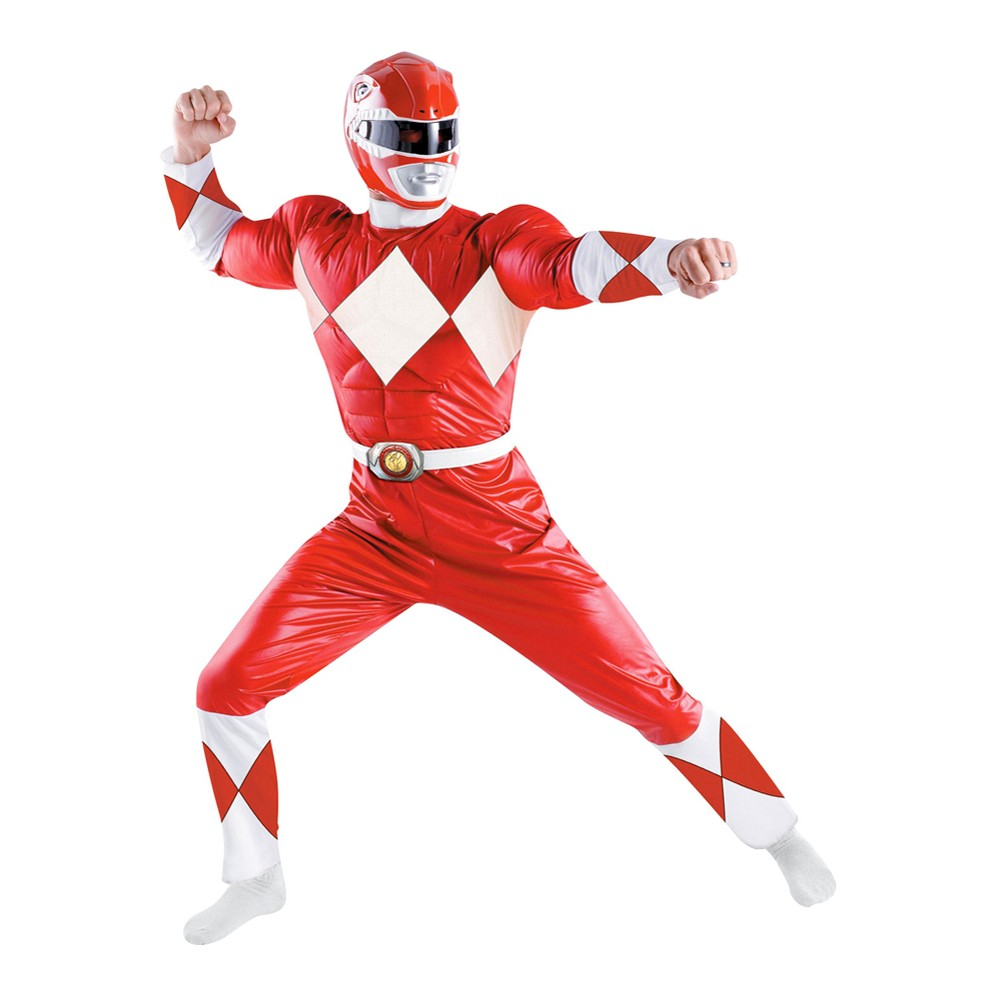 Power Rangers Mens Red Ranger Classic Costume X-Large, Size: XL
