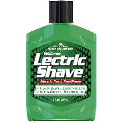 Williams Lectric Shave Original with Green Tea Complex - 7 oz.