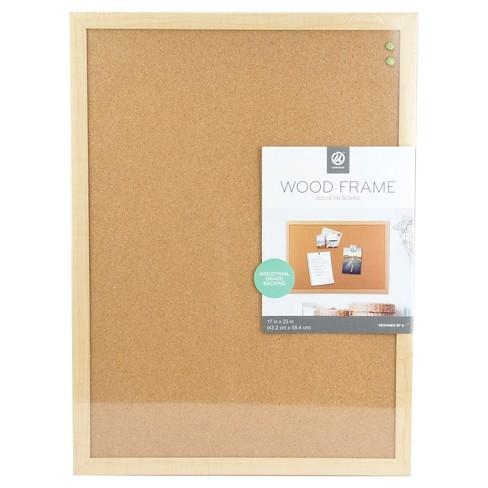 Ubrands 174 Cork Bulletin Board Wood Frame 17 Quot X23 Quot Brown Target